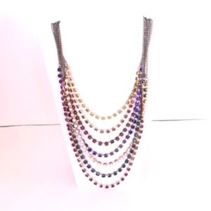 "Ann Taylor Loft Opera Necklace 29"" Multilayer"